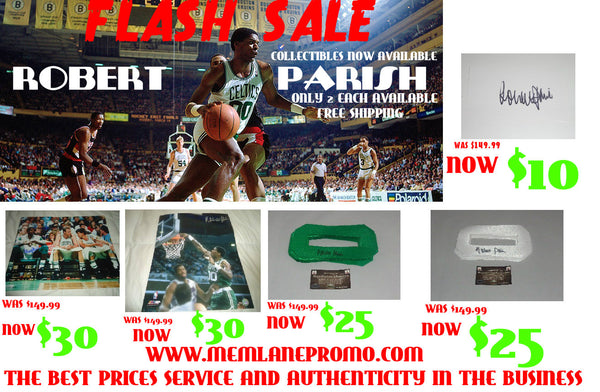 Robert Parish FLASH SALE autograph 16x20 COA Memorabilia Lane