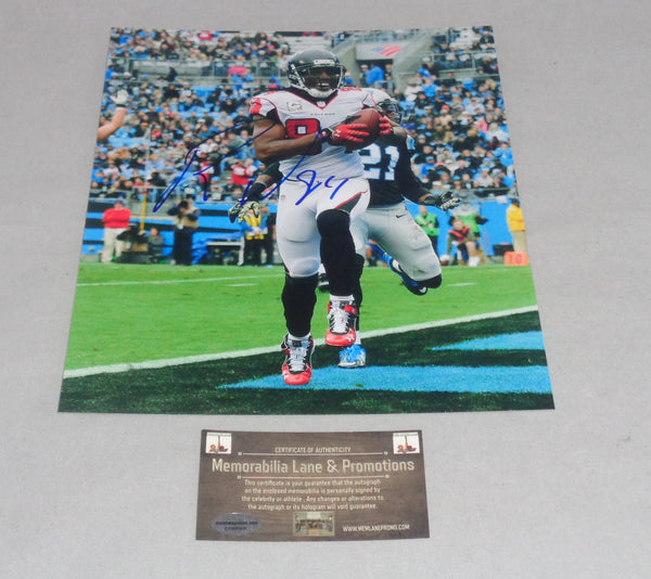 Roddy White FALCONS autograph 8x10 COA Memorabilia Lane & Promotions