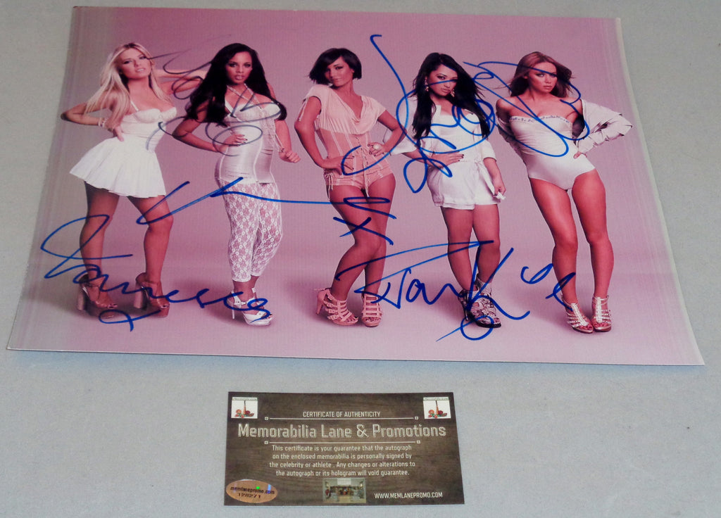 The Saturdays Autographed 8.5x11 COA Memorabilia Lane & Promotions HOT!  Sexy !