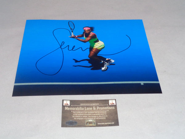 Serena Williams Autographed 8x10 COA Memorabilia Lane & Promotions