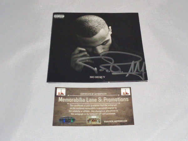 TI NO MERCY autograph CD COVER COA Memorabilia Lane & Promotions