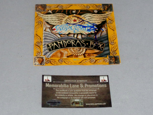 Tom Hamilton AEROSMITH autograph CD Cover COA Memorabilia Lane & Promotions