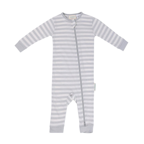 Woolbabe Merino/Organic Cotton Sleepsuit - PEBBLE