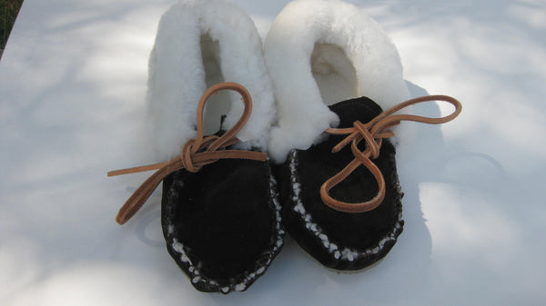 The Sheepskin Cuff Slipper