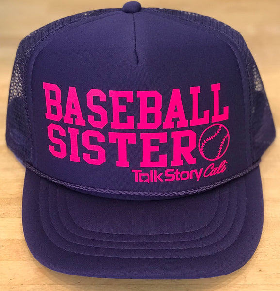 Baseball Sister trucker hat