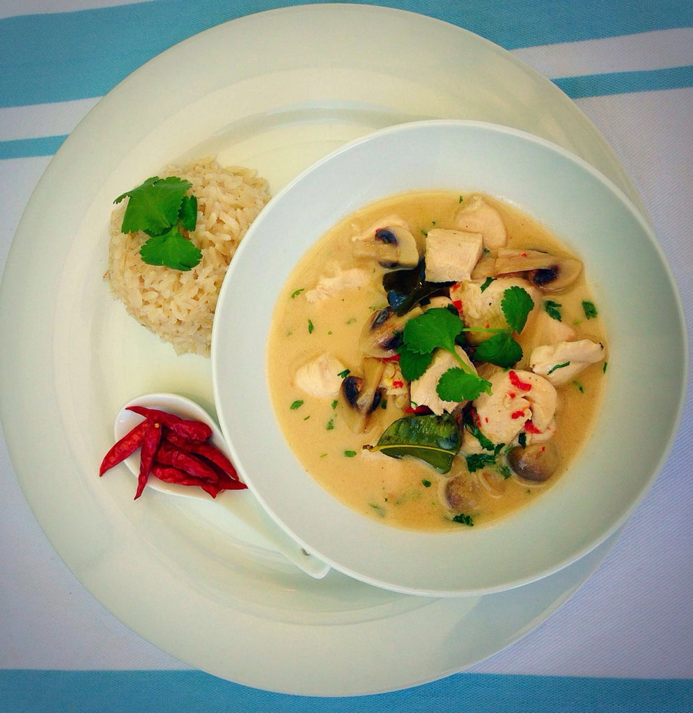 Tom Kha Gai recipe (Spicy Thai Coconut Chicken Soup)