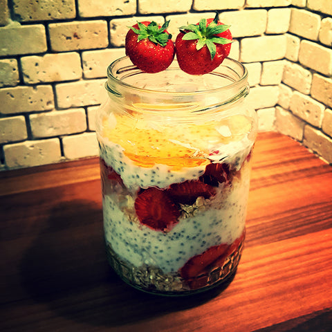Chia, oats and coconut healthy breakfast pudding