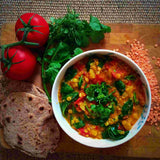 tomato and lentil sambar healthy dinner recipe