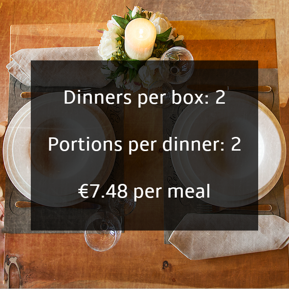 Healthy recipes for couples delivered in food boxes in Ireland