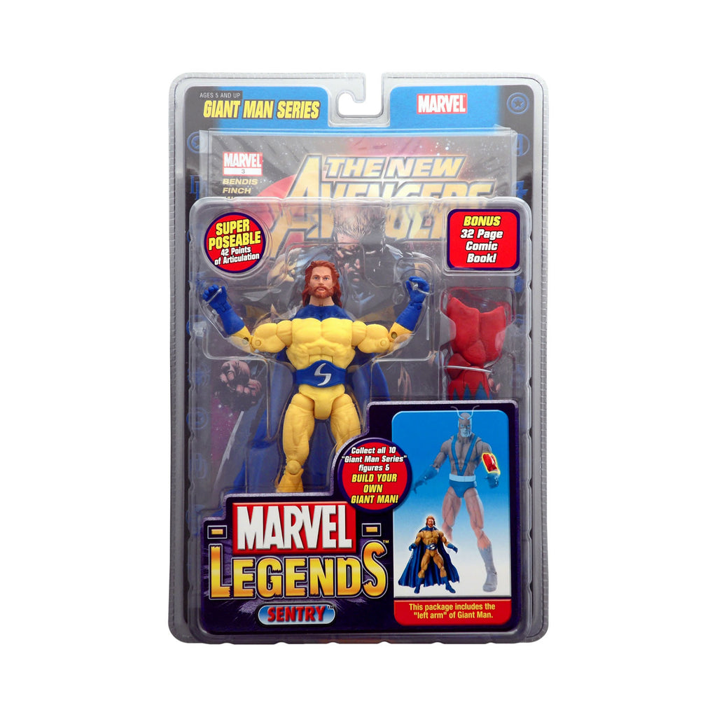 Marvel Legends Giant Man Series Sentry (bearded, bright yellow variant)