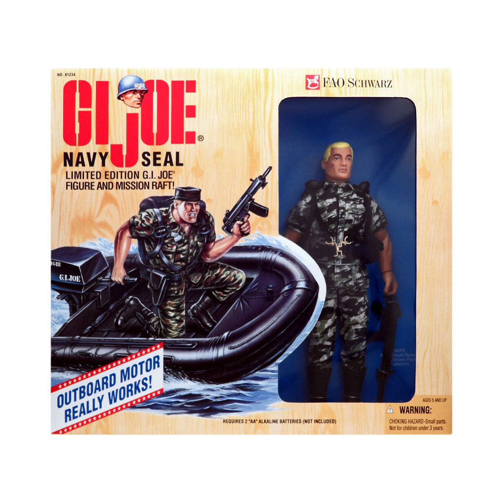 G.I. Joe Navy Seal and Mission Raft FAO Schwarz Exclusive