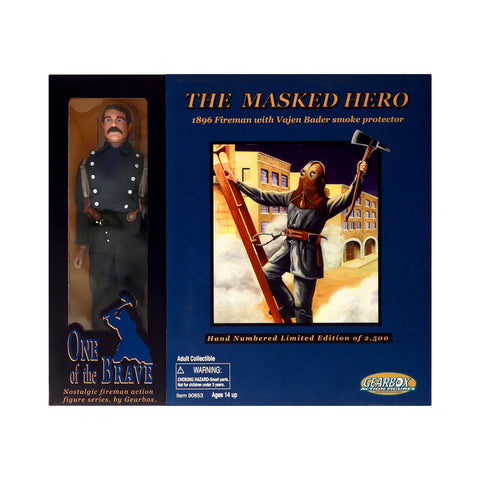 The Masked Hero 1896 Fireman with Vajen Bader Smoke Protector