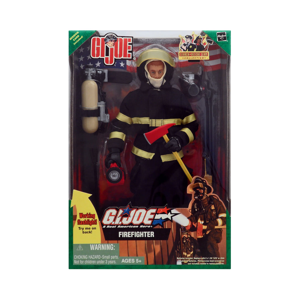 G.I. Joe Search & Rescue Team Collection Firefighter With Working Flashlight
