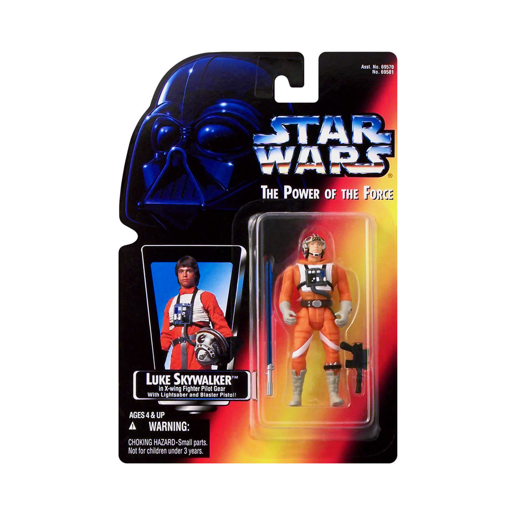 Star Wars: Power of the Force Luke Skywalker in X-Wing Fighter Pilot Gear (red card)