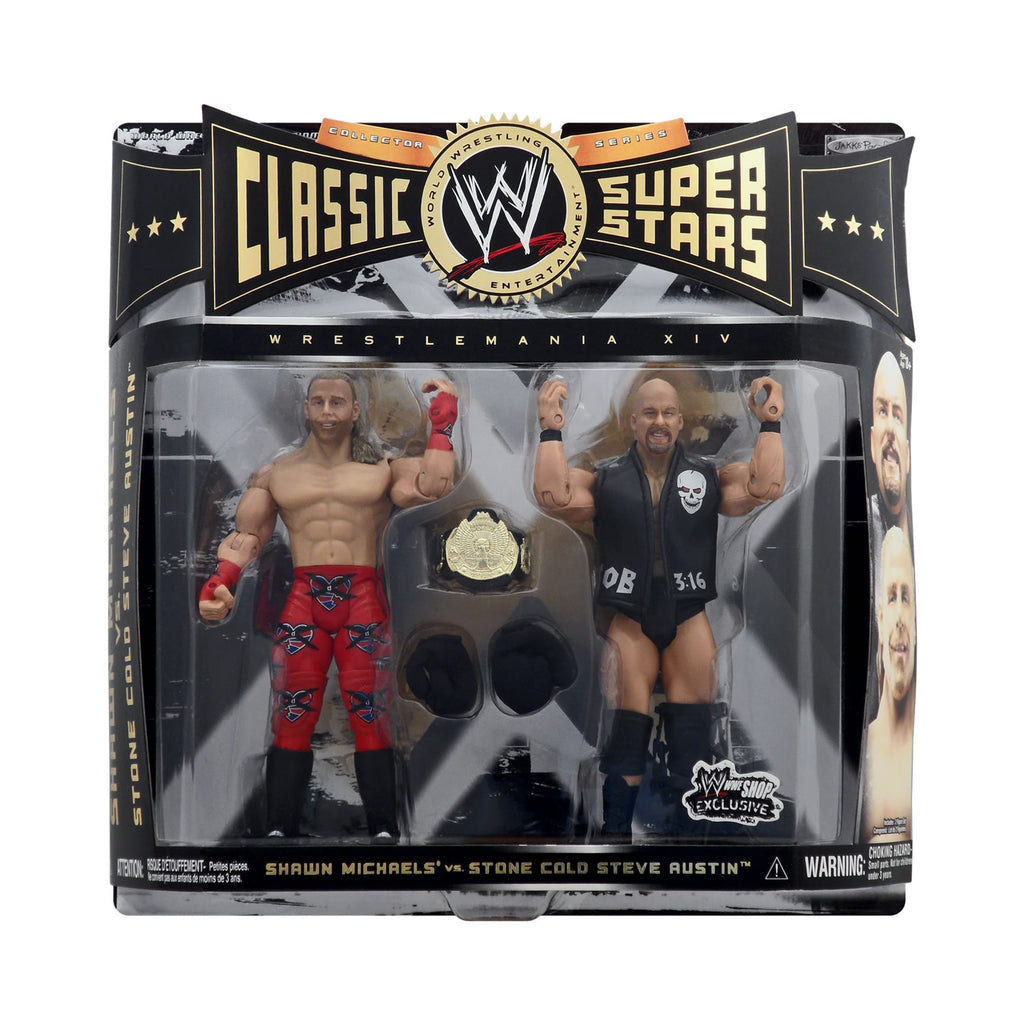 WWE Shop Exclusive Classic WWE Superstars Shawn Michaels vs. Stone Cold Steve Austin