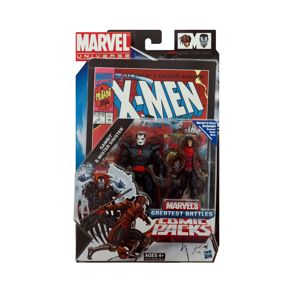 Marvel Universe Gambit & Mister Sinister Greatest Battles Comic Pack