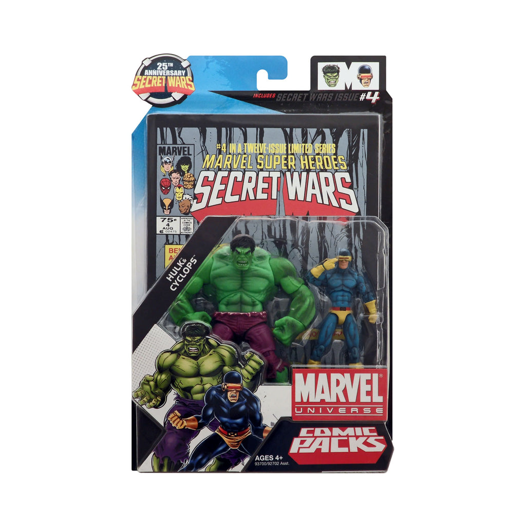 Marvel Universe Hulk & Cyclops 25th Anniversary Secret Wars Comic Pack