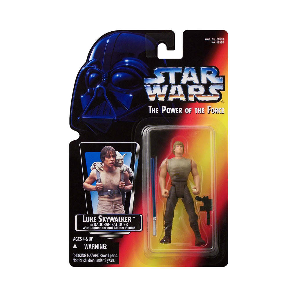 Star Wars: Power of the Force Luke Skywalker in Dagobah Fatigues (red card)