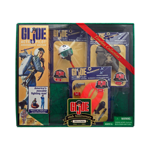 G.I. Joe 40th Anniversary Action Pilot with Scramble Crash Helmet, Life Vest, and Parachute Pack 13th Set in a Series