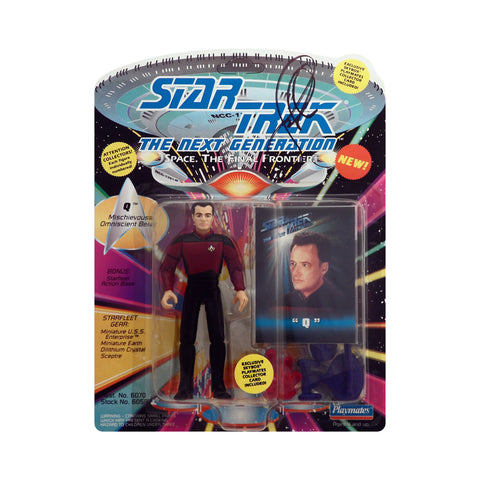 Autographed Q from Star Trek: The Next Generation