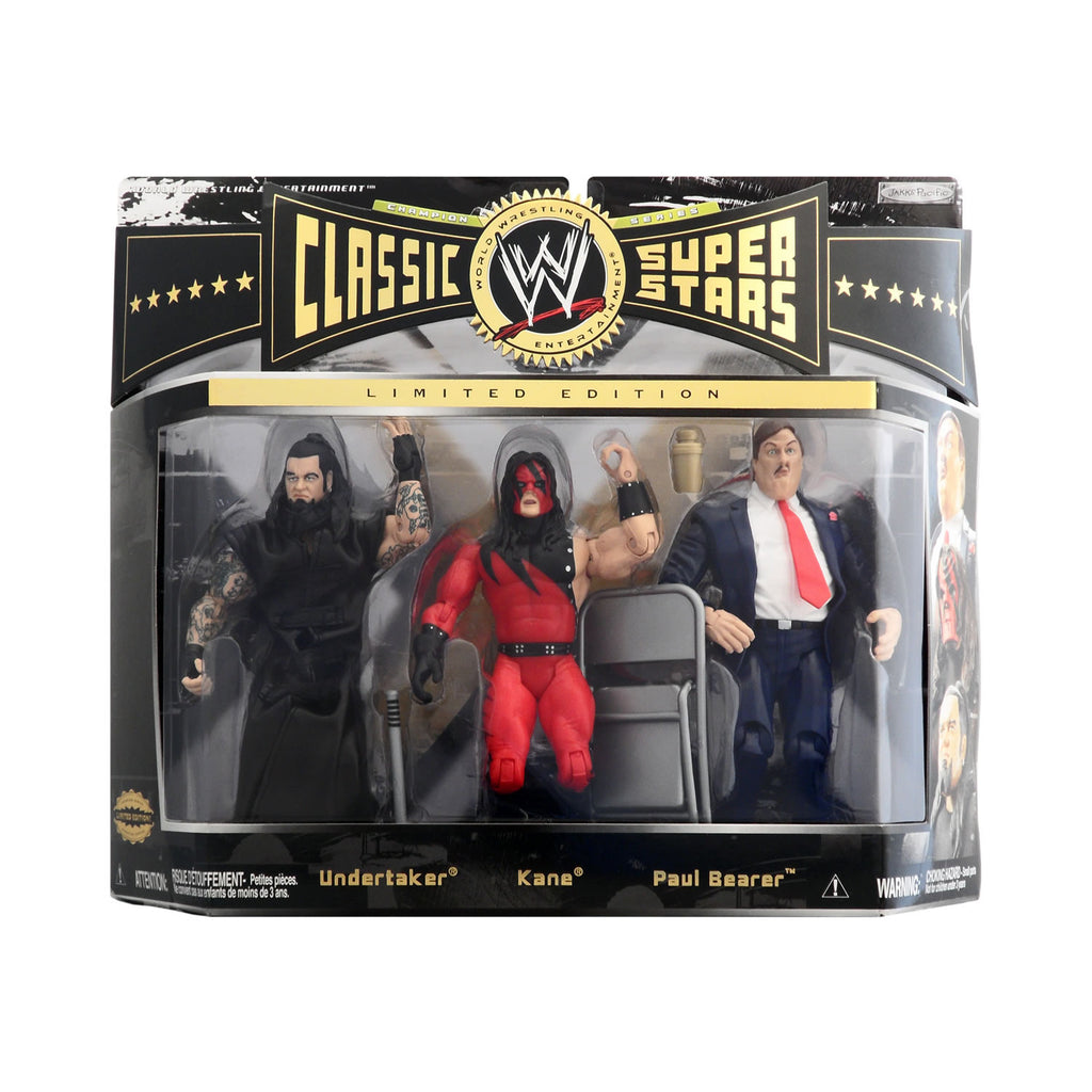 Classic WWE Superstars Champion Series Undertaker, Kane, & Paul Bearer