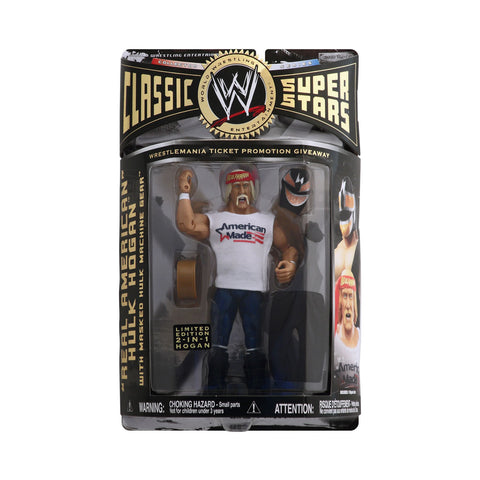 "Classic WWE Superstars ""Real American"" Hulk Hogan with Masked Hulk Machine Gear"