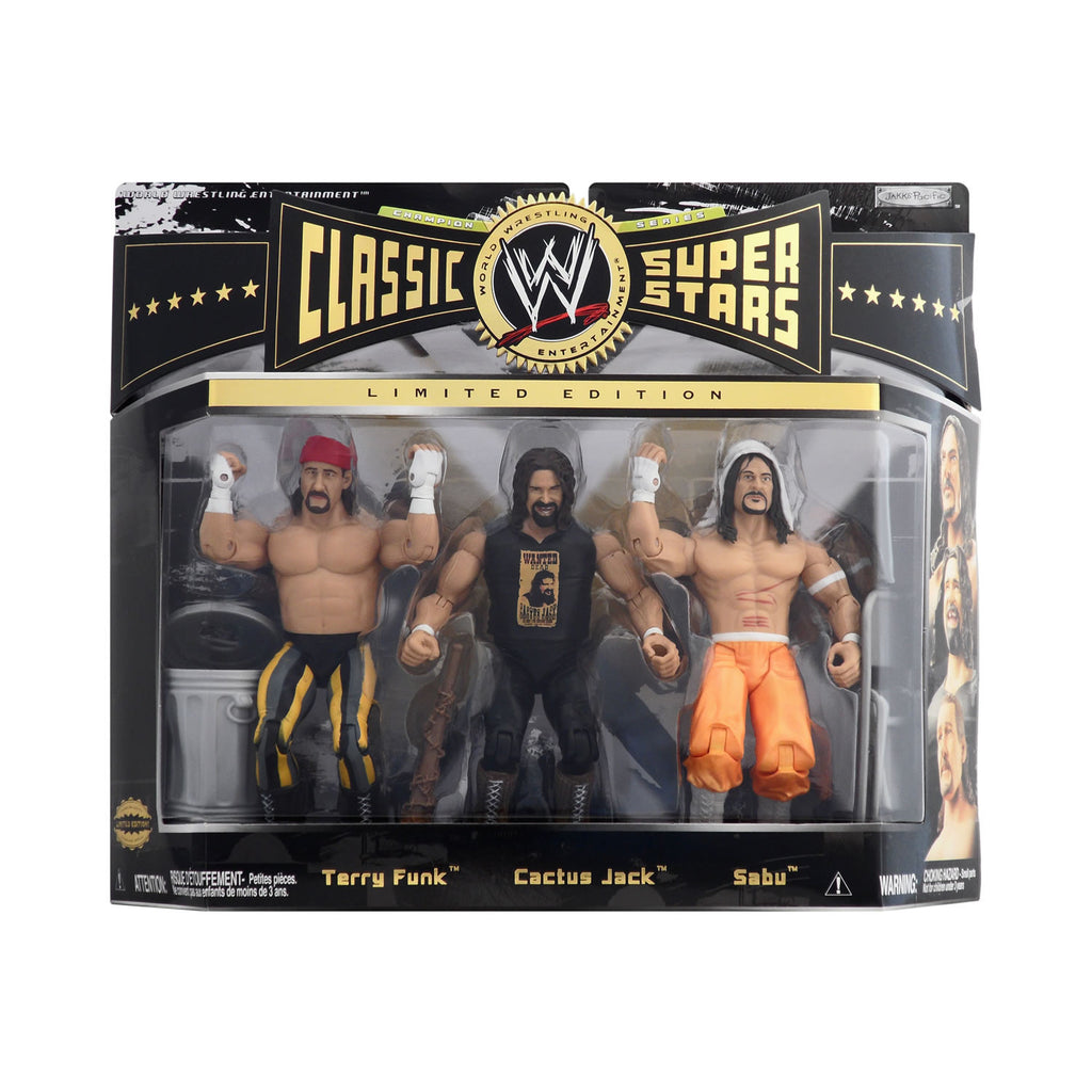 Classic WWE Superstars Champion Series Terry Funk, Cactus Jack, & Sabu