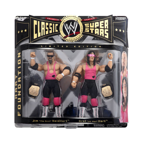 "Classic WWE Superstars Hart Foundation (Jim ""The Anvil"" NeidHart & Bret ""Hit Man"" Hart)"