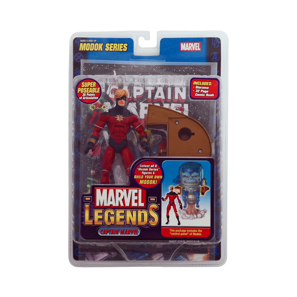 Marvel Legends Modok Series Captain Marvel (red & blue costume)