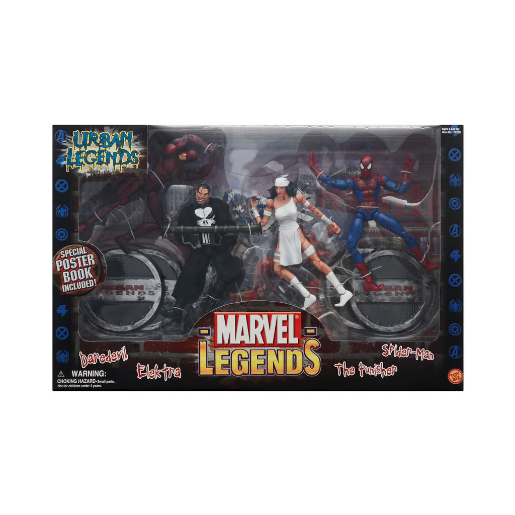 Marvel Legends Urban Legends (Daredevil, Spider-Man, Elektra, & The Punisher)