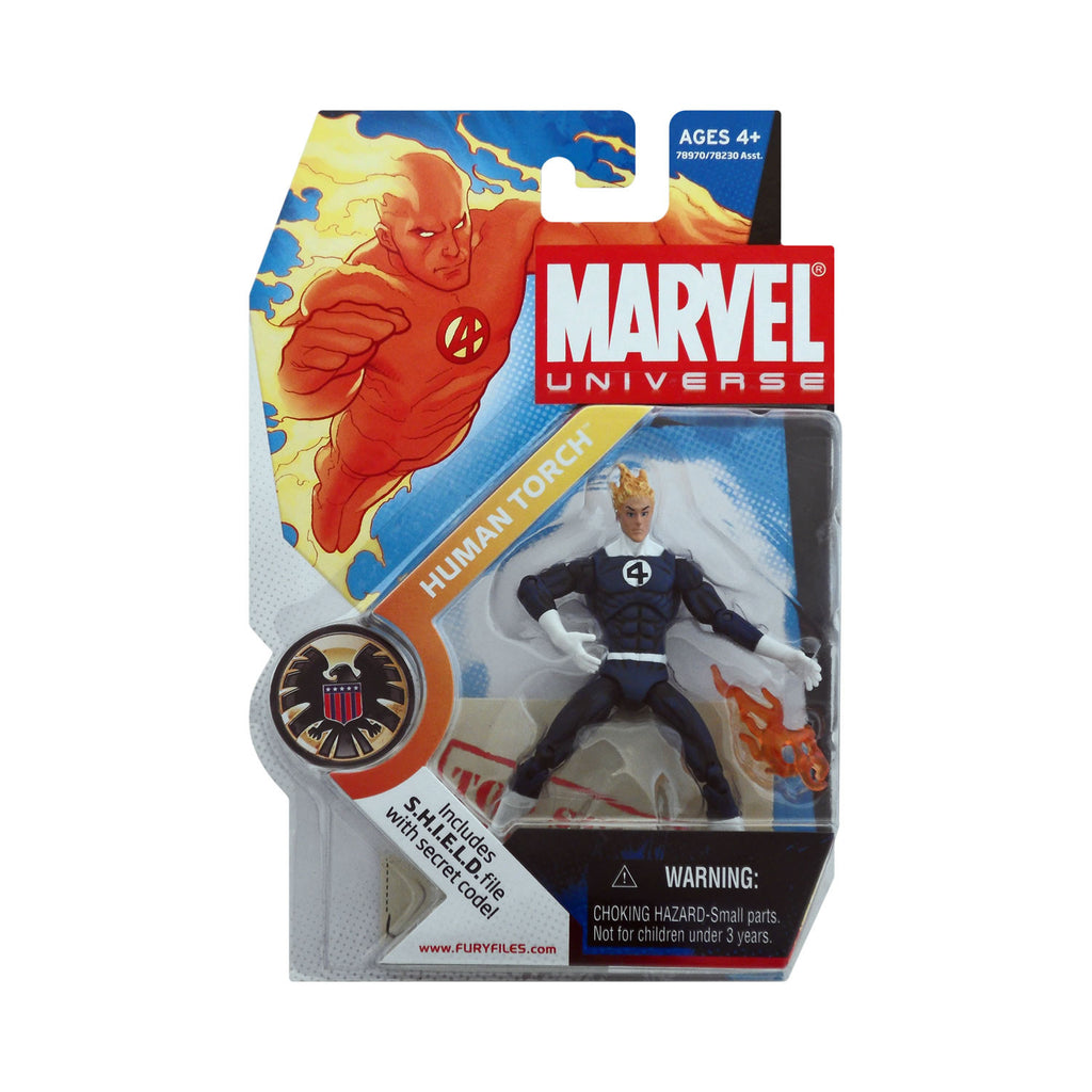 Marvel Universe Series 1 Figure 11 Human Torch (dark blue suit)