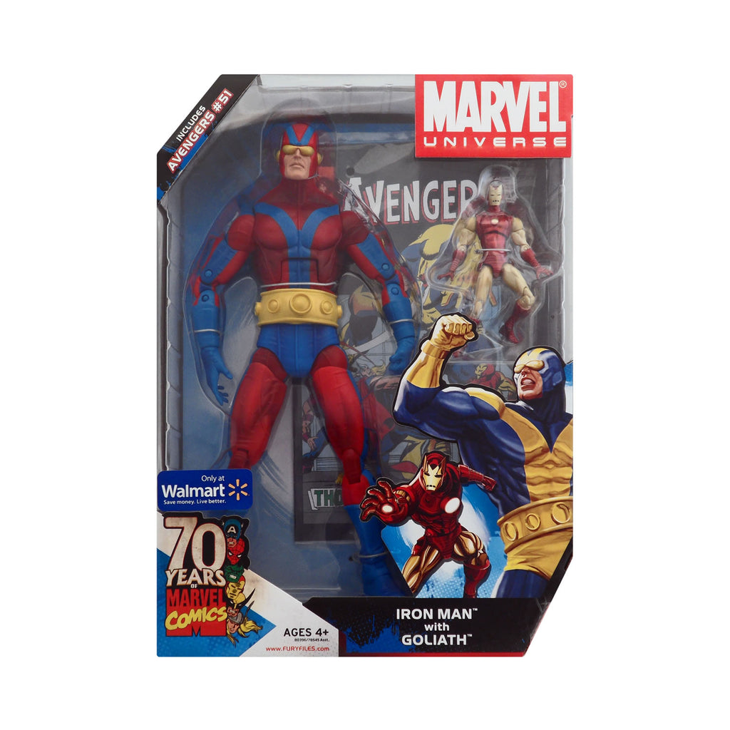 Marvel Universe Iron Man with Goliath (red costume variant)