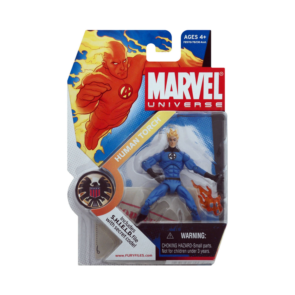 Marvel Universe Series 1 Figure 11 Human Torch (light blue suit)