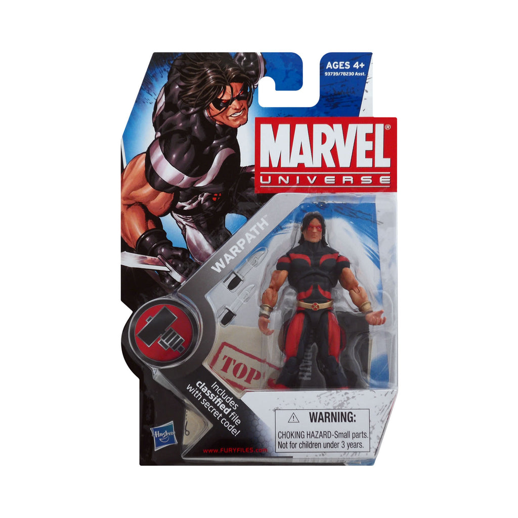 Marvel Universe Series 2 Figure 3 Warpath (blue & red variant)