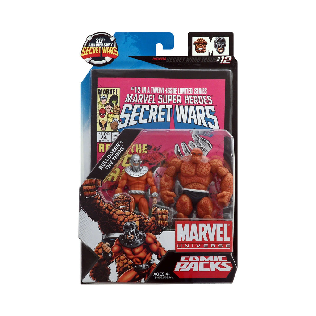 Marvel Universe Bulldozer & The Thing 25th Anniversary Secret Wars Comic Pack
