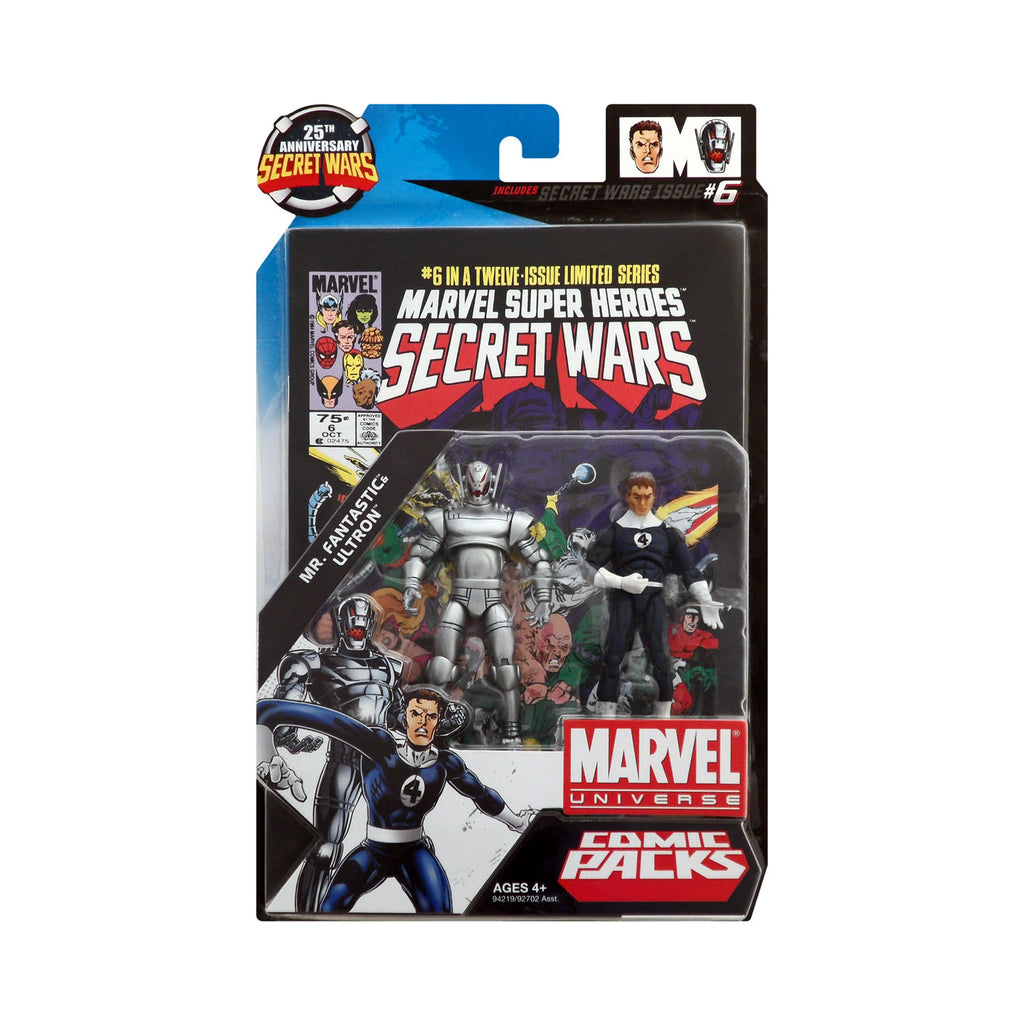 Marvel Universe Mr. Fantastic & Ultron 25th Anniversary Secret Wars Comic Pack