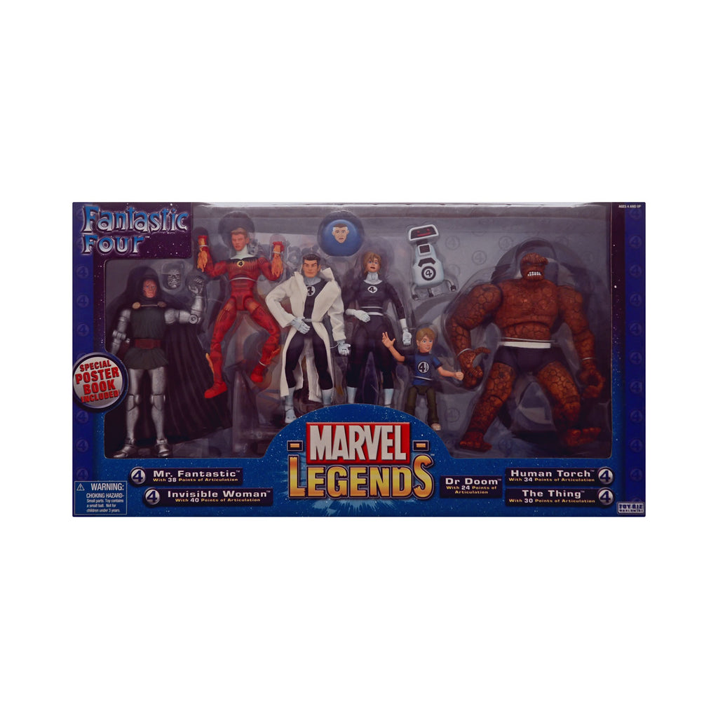 Marvel Legends Fantastic Four Set with Dr. Doom, Franklin Richards, & H.E.R.B.I.E.