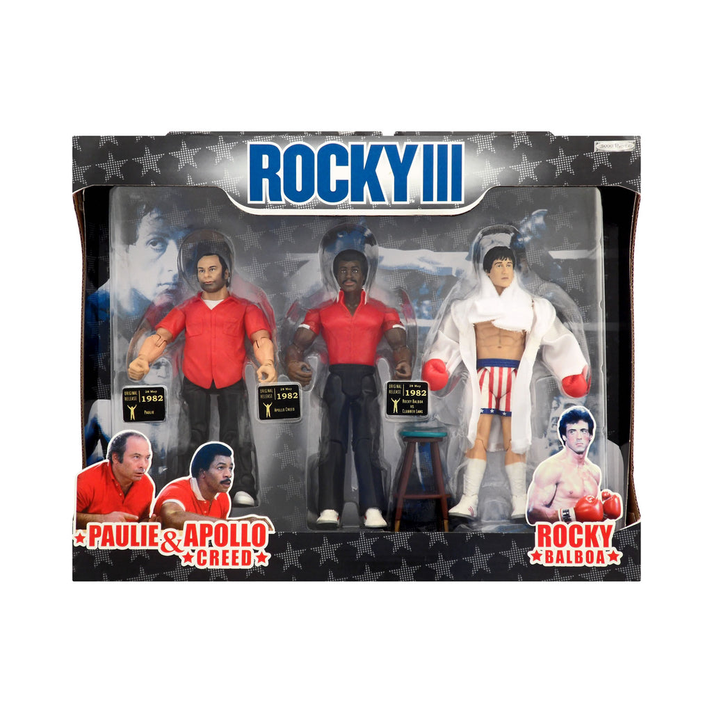 Rocky III Rocky Balboa, Paulie, and Apollo Creed 3-Pack