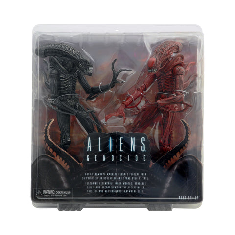 Black vs. Red Xenomorph Warriors from Aliens: Genocide