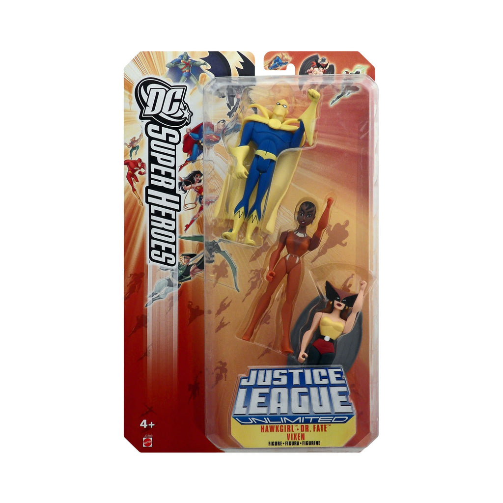 DC Superheroes: Justice League Unlimited 3-Pack (Hawkgirl, Dr. Fate, & Vixen)