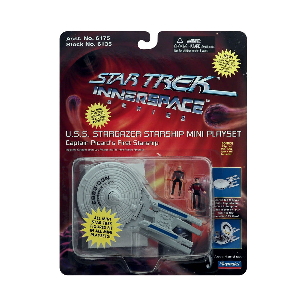 Innerspace Series U.S.S. Stargazer Starship Mini Playset from Star Trek