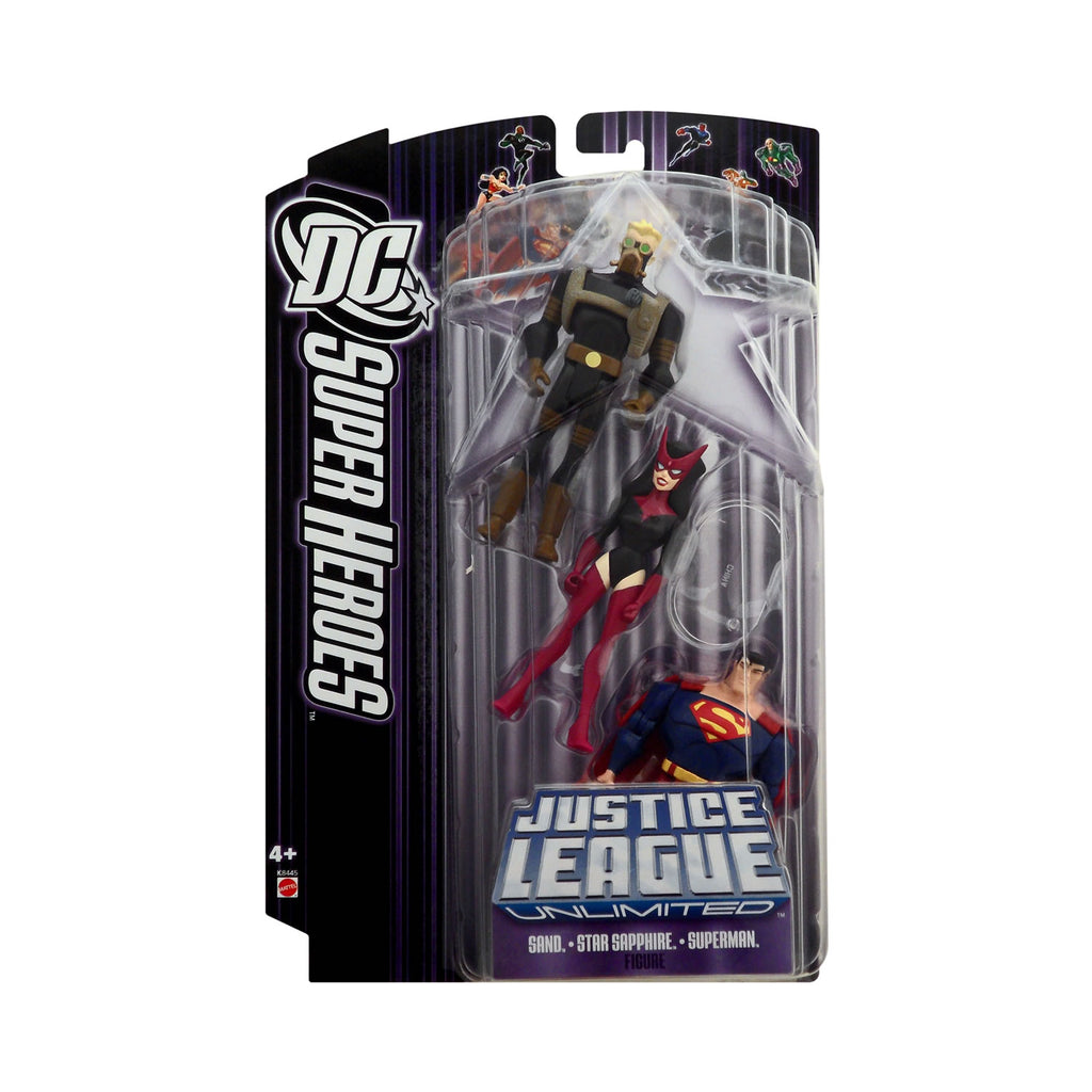 DC Superheroes: Justice League Unlimited 3-Pack (Sand, Star Sapphire, & Superman)