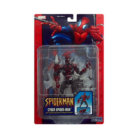Cyber Spider-Man with Transforming Armor to Rocket Launcher