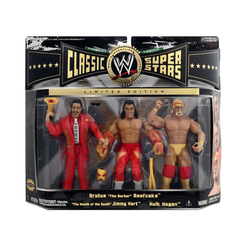 "Classic WWE Superstars Champion Series Brutus ""The Barber"" Beefcake, Jimmy Hart, & Hulk Hogan"