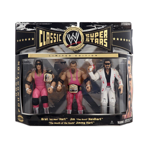 Classic WWE Superstars Champion Series Hart Foundation (Bret Hart, Jim Neidhart, & Jimmy Hart)
