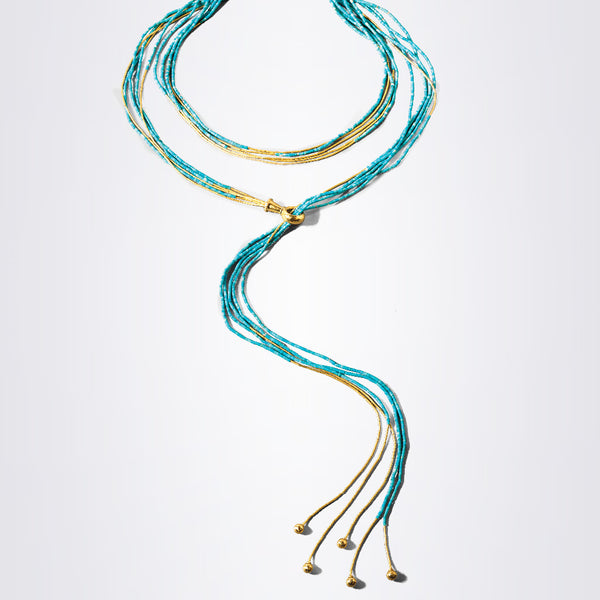 Gurhan Waterfall Necklace Turquoise