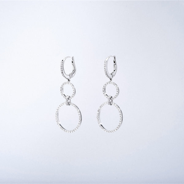 Diamond Loop Drop Earrings