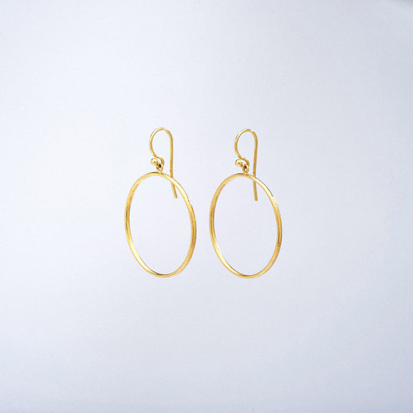Front Hoop Earrings with French Wire