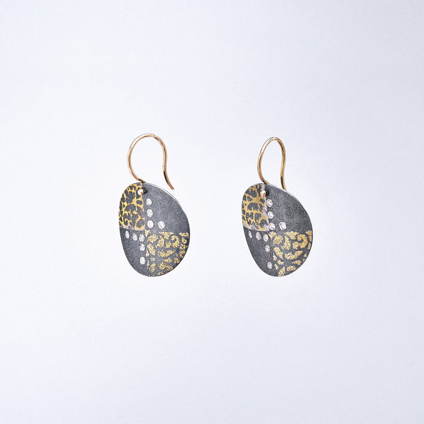 Multiple Metal Diamond Earrings