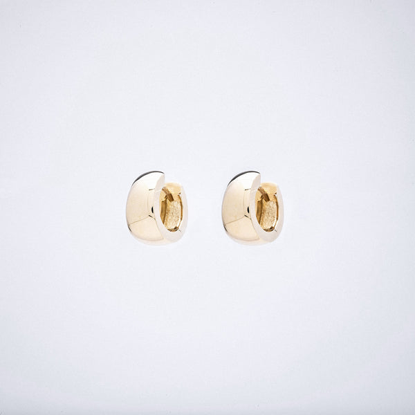 Yellow Gold Huggie Hoop Earrings